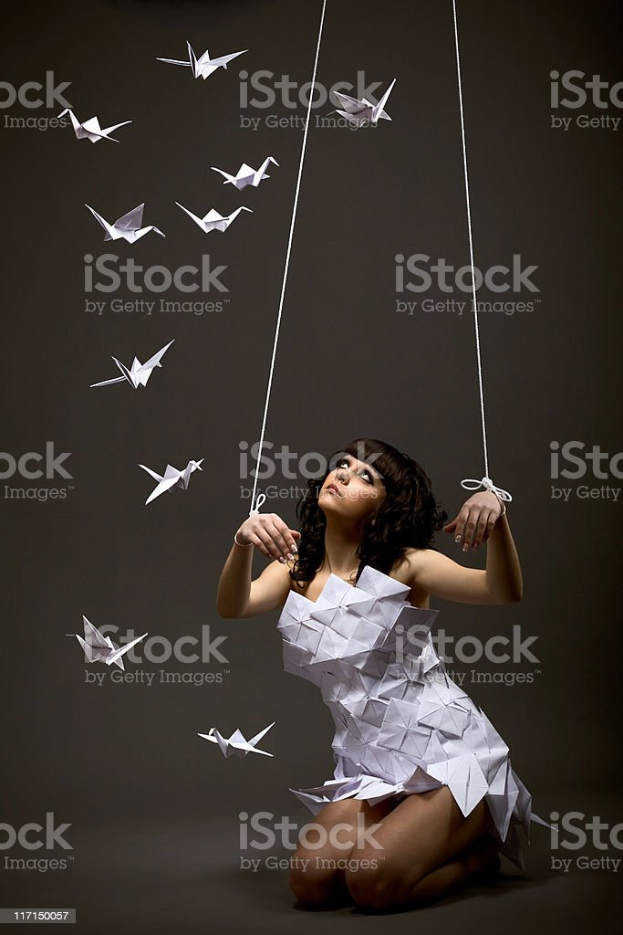 Puppet dreams royalty-free stock photo