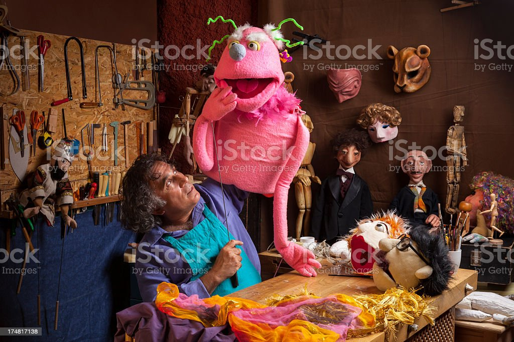 Puppet Master royalty-free stock photo