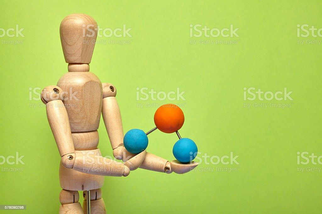 Puppet molecule stock photo