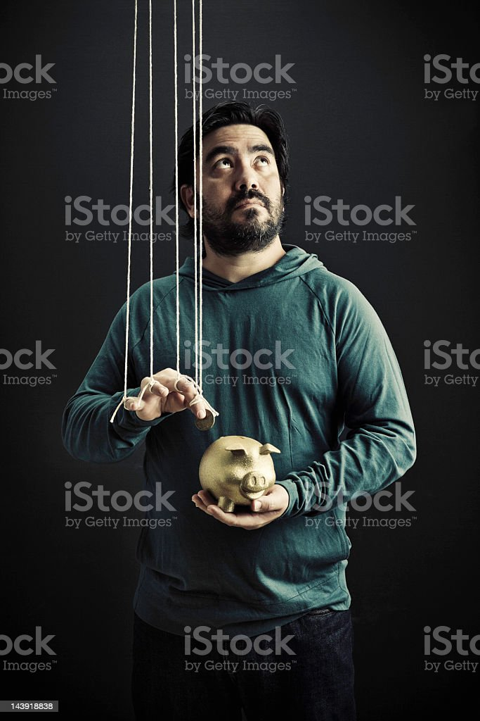 Puppet of the bank stock photo