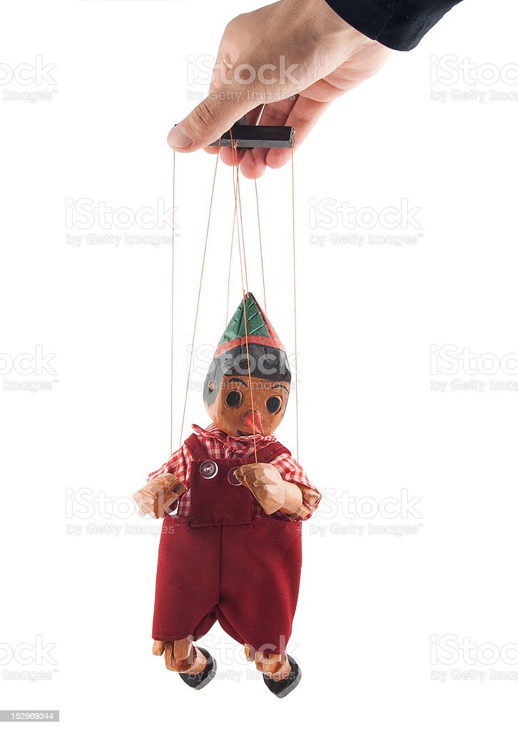 Puppet on white royalty-free stock photo