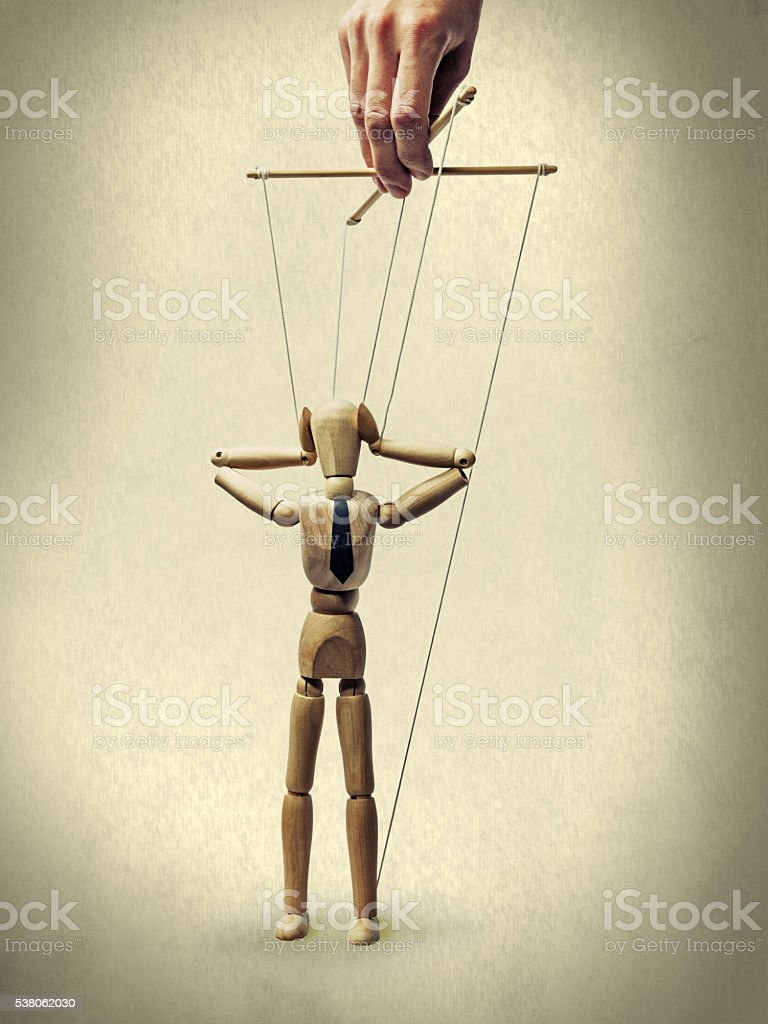 puppet - panic stock photo