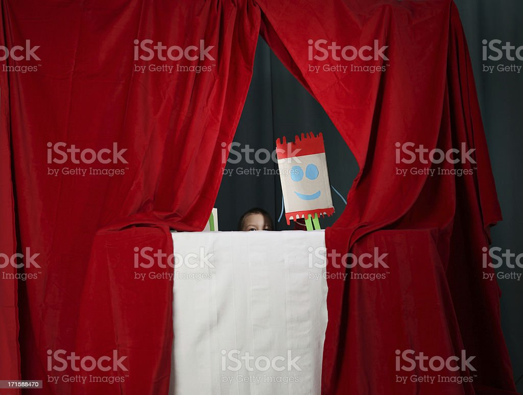 puppet show royalty-free stock photo