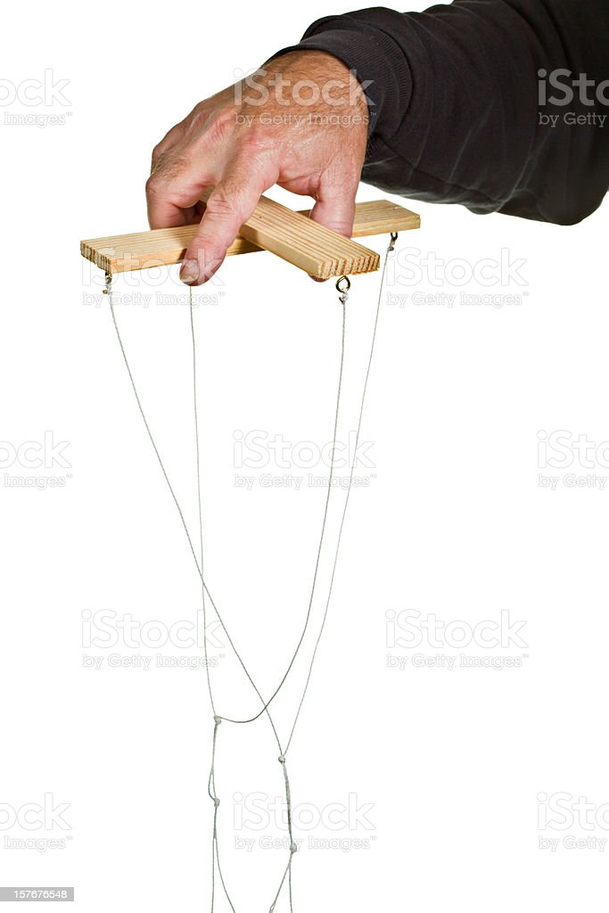 Puppet Strings Isolated royalty-free stock photo