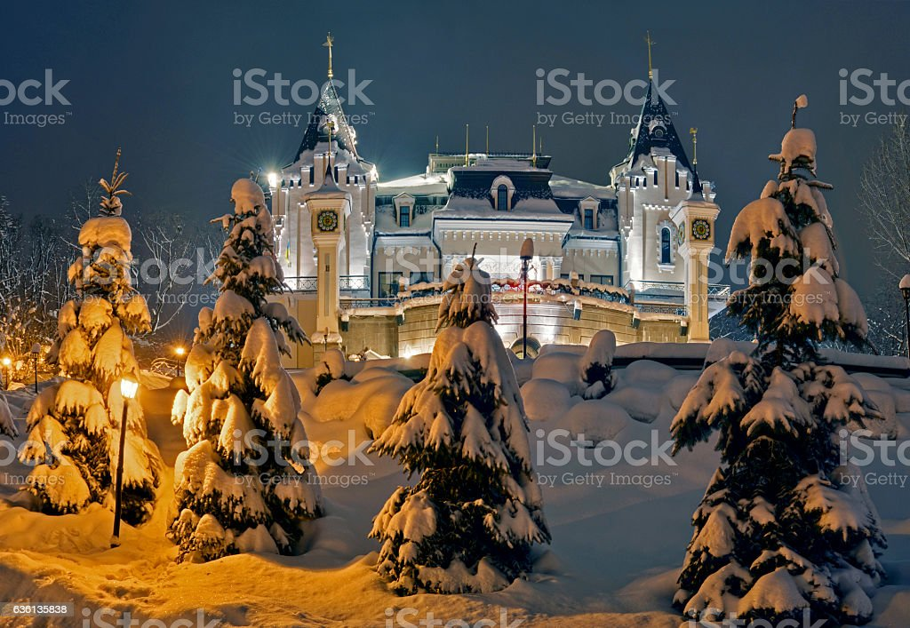 Puppet Theatre night view stock photo