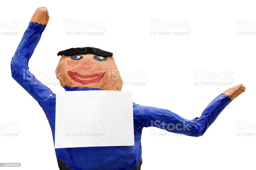 Puppet with Blank Note royalty-free stock photo
