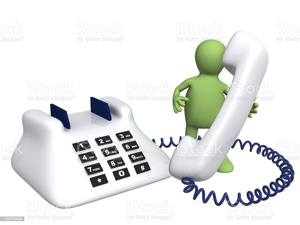 Puppet with phone royalty-free stock photo