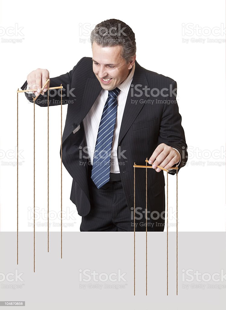 Puppeteer Concept stock photo