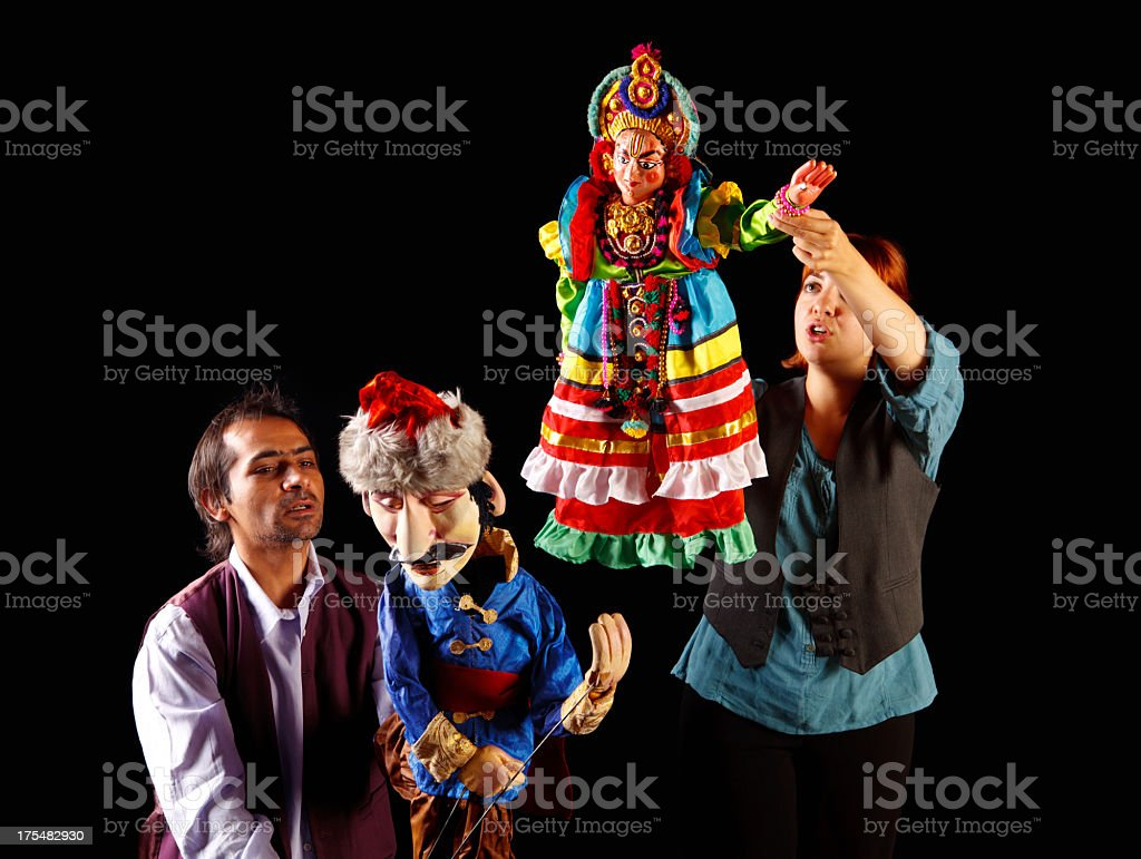 Puppeteers on Show royalty-free stock photo