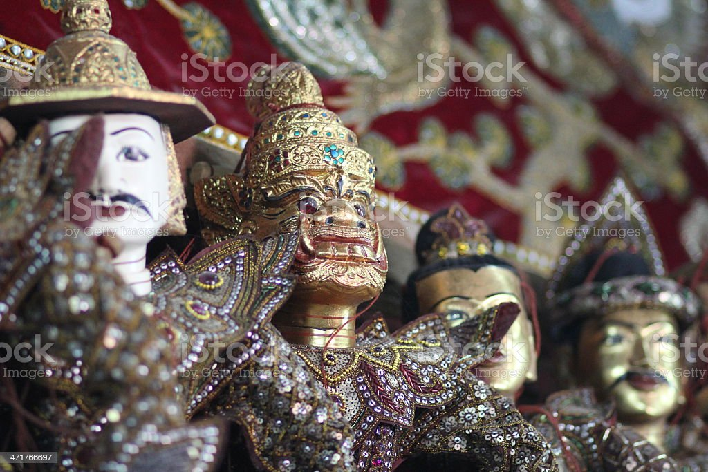 puppets in Mandalay royalty-free stock photo