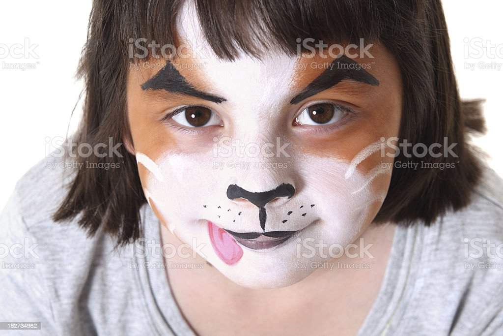 Puppy Face Paint royalty-free stock photo