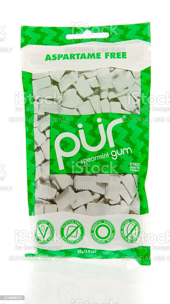 Pur Chewing Gum stock photo