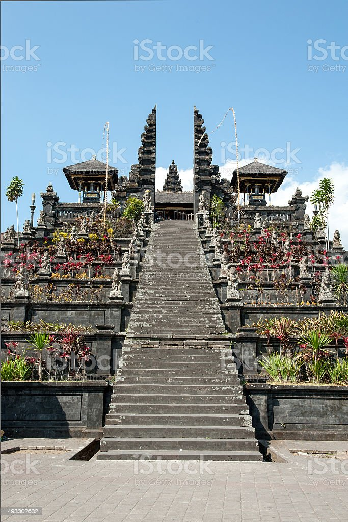 Pura Besakih temple stock photo