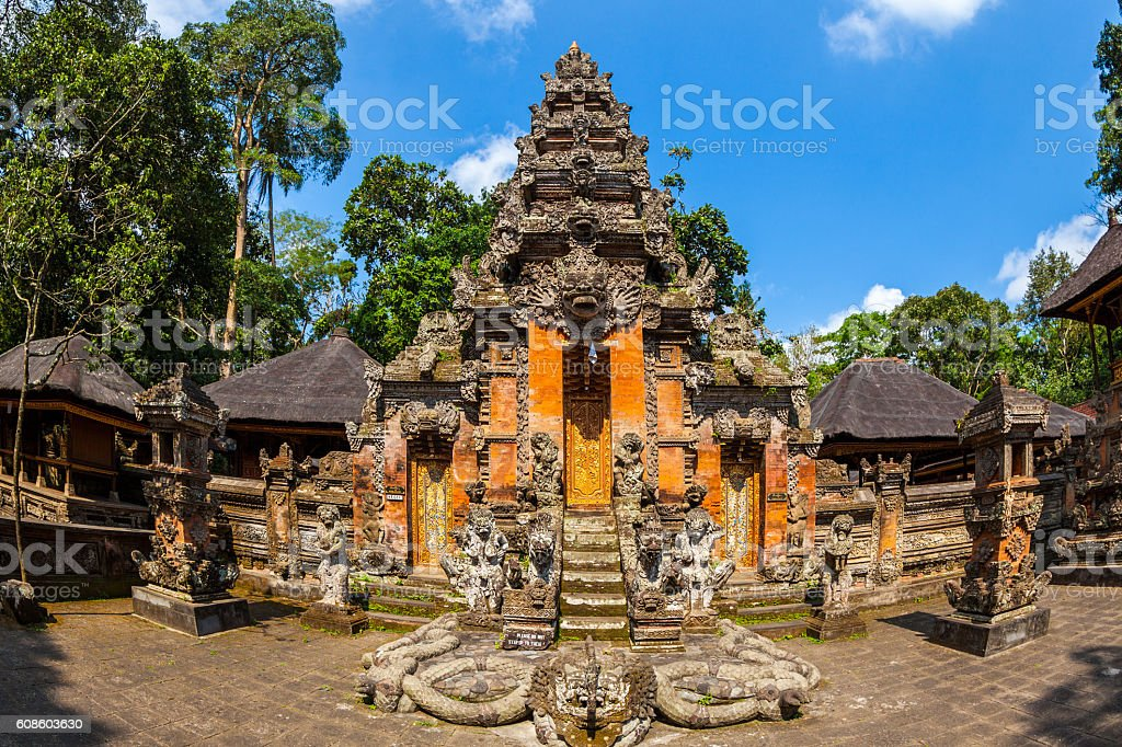 Pura Dalem Agung Padangtegal in Bali, Indonesia stock photo