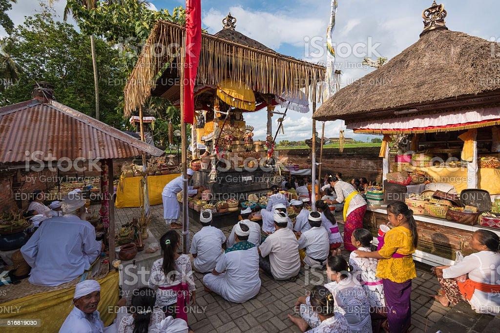 Pura Praja Pati temple view on a ceremony day stock photo