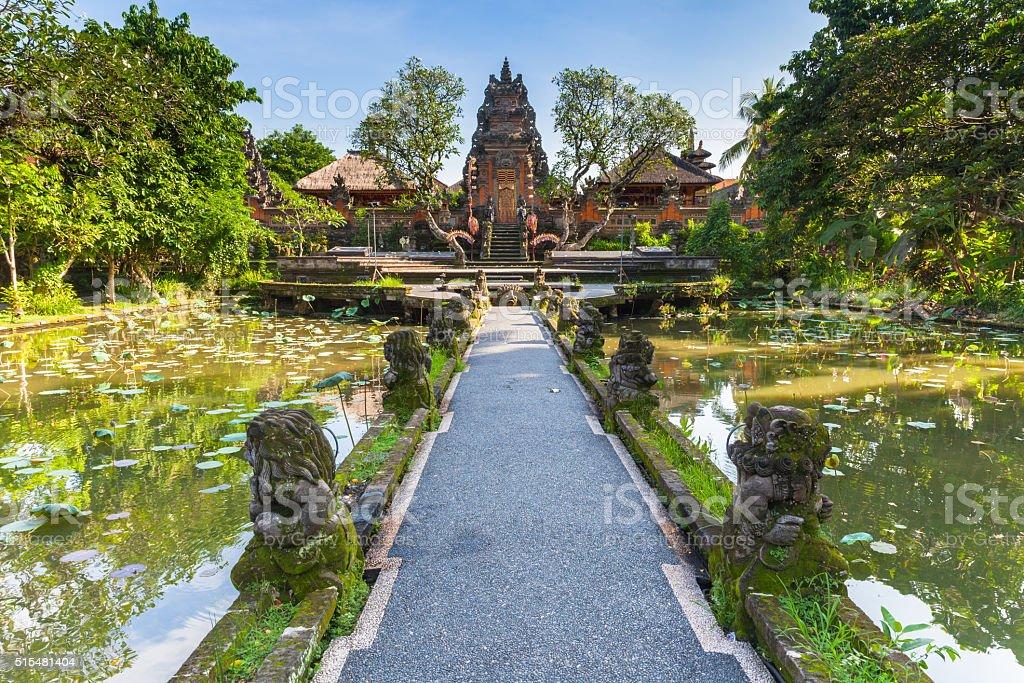 Pura Saraswati Temple, Ubud, Bali stock photo