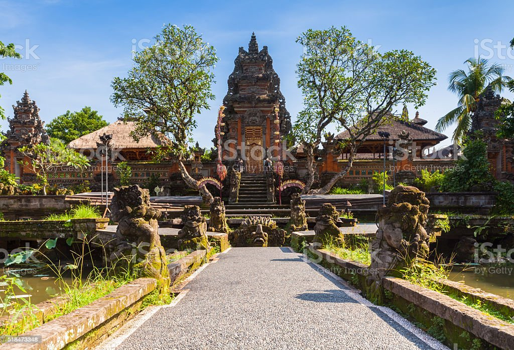 Pura Saraswati Temple, Ubud, Bali stock photo