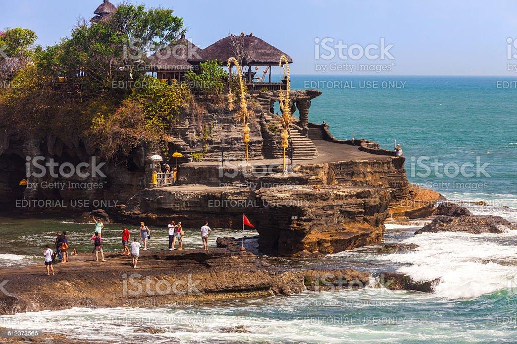 Pura Tanah Lot in Bali, Indonesia stock photo