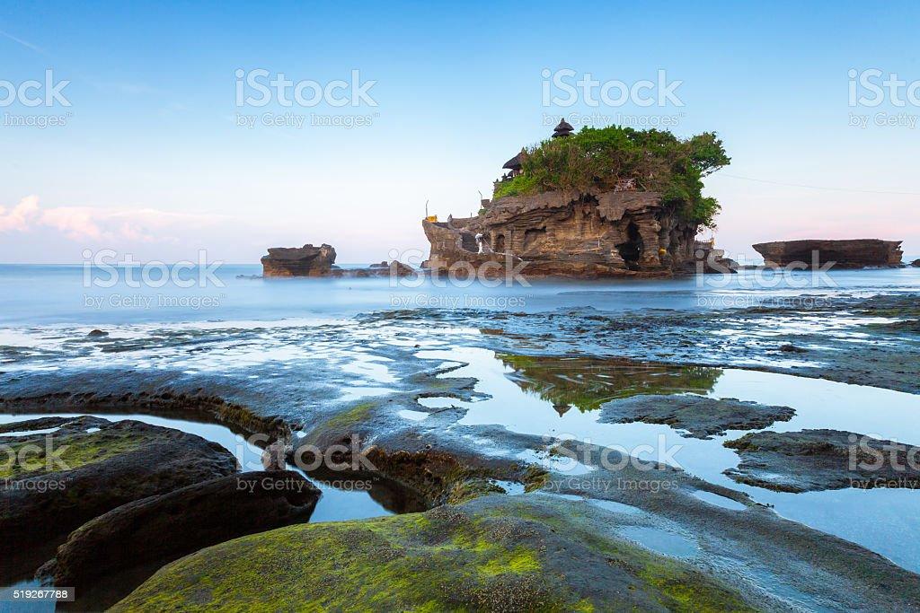 Pura Tanah Lot in the morning, Bali stock photo