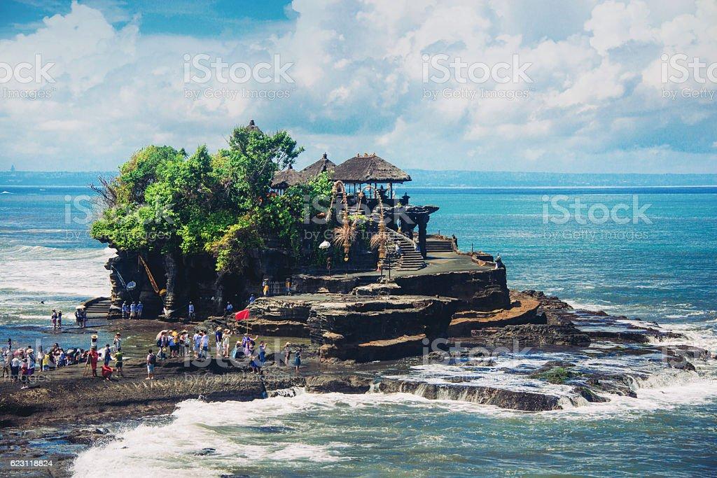 Pura Tanah Lot Water Temple, Bali, Indonesia stock photo