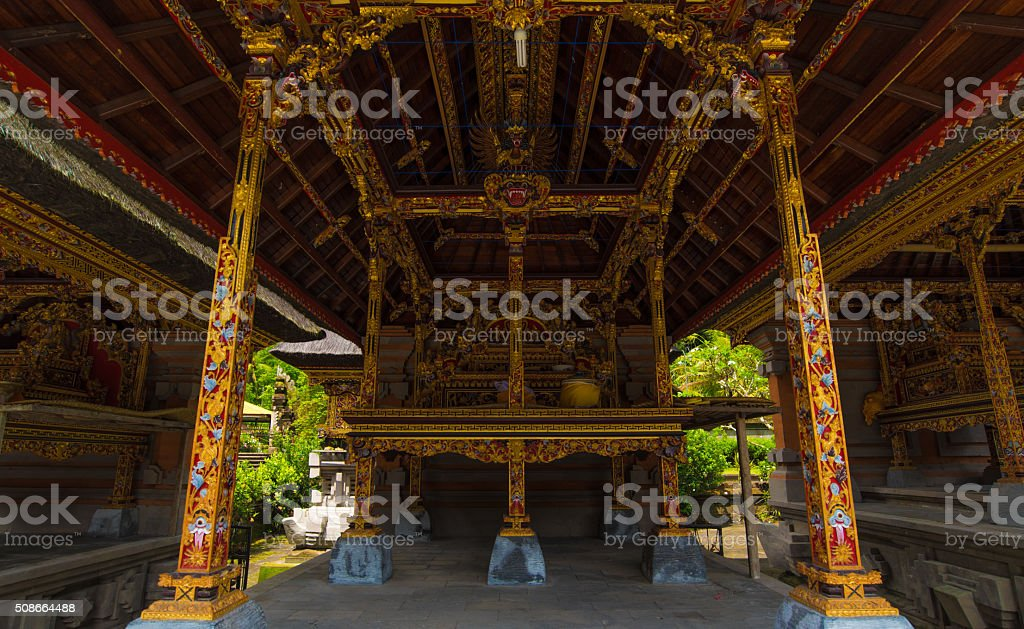 Pura Temple at Tirtha Empul Bali, Indonesia stock photo
