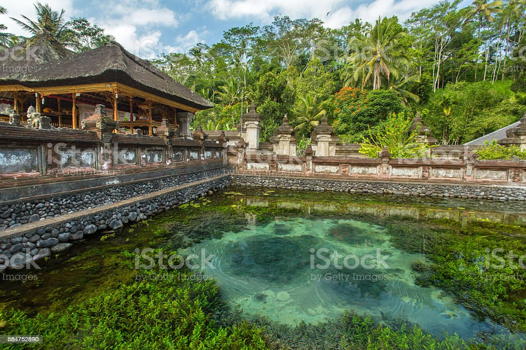 Pura Tirta Empul Temple, Bali, Indonesia. stock photo
