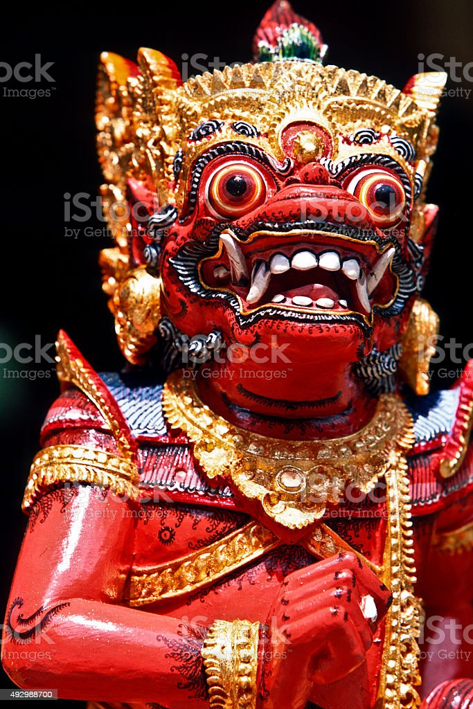 Pura Tirta Empul, temple figure stock photo