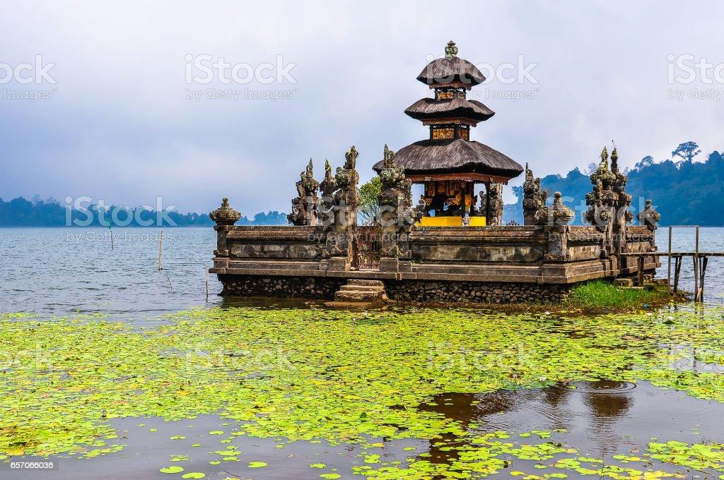 Pura Ulun Danu Bratan, a Hindu temple on Lake Bratan in Bali, Indonesia stock photo