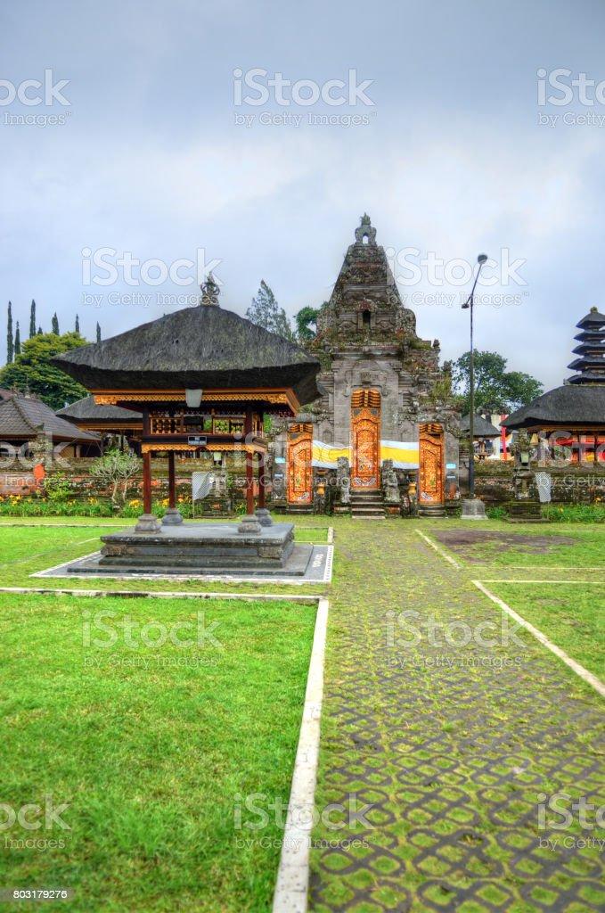 Pura Ulun Danu Bratan, Hindu temple on Bratan lake, Bali, Indonesia stock photo