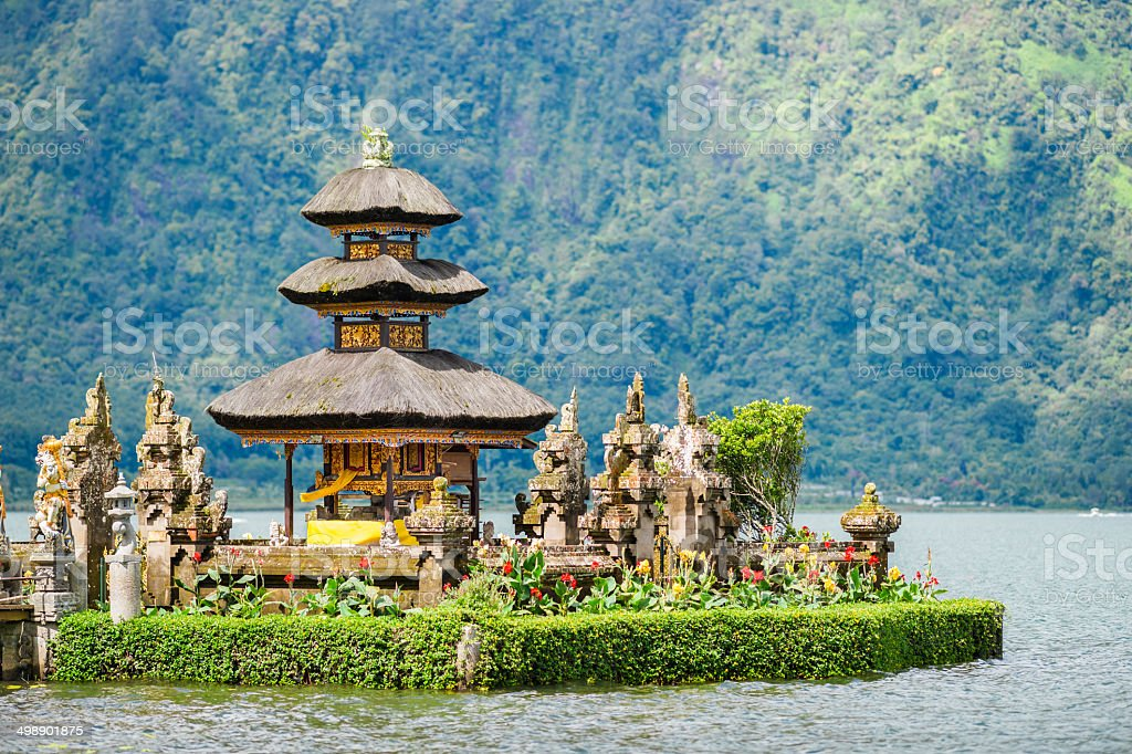 Pura Ulun Danu Bratan Temple on Bali in Indonesia royalty-free stock photo