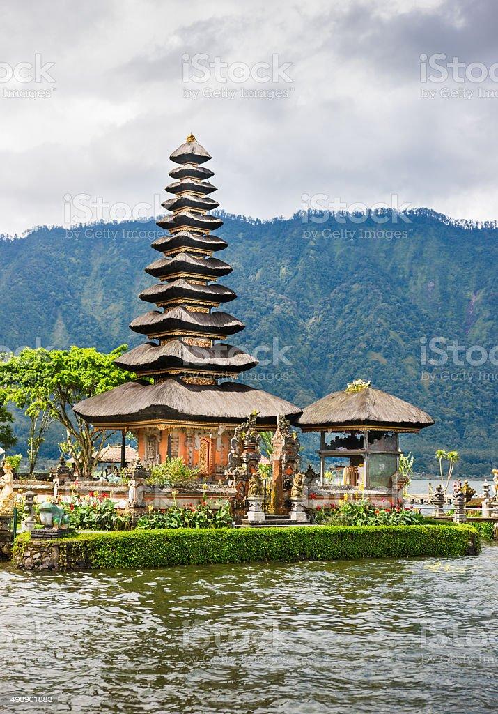 Pura Ulun Danu Bratan Temple on Bali in Indonesia royalty-free stock photo