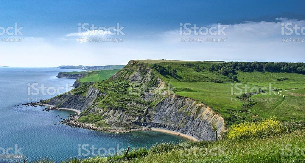 Purbeck Coastline landscape royalty-free stock photo