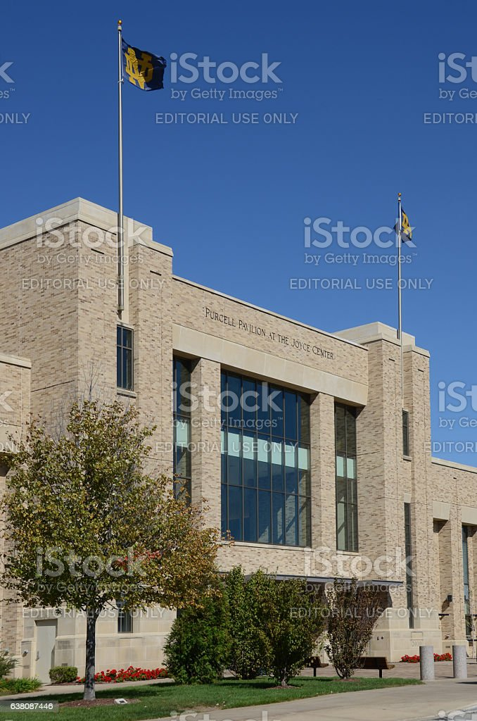 Purcell Pavilion at University of Notre Dame stock photo