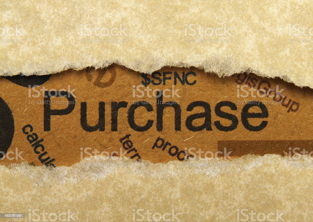 Purchase concept stock photo