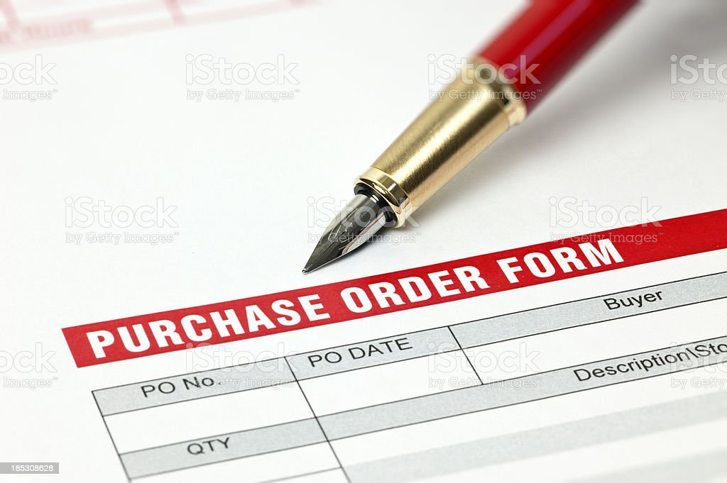 Purchase Order Form stock photo