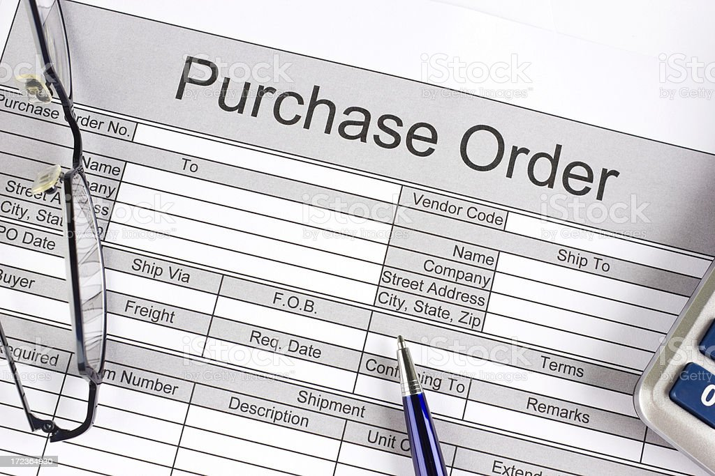 Purchase order stock photo