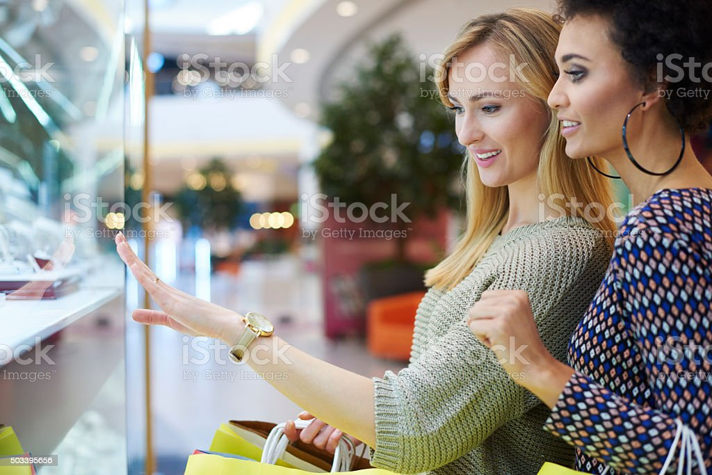 Purchase with the best friend stock photo
