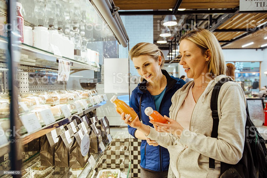 Purchasing Healthy Refreshments stock photo