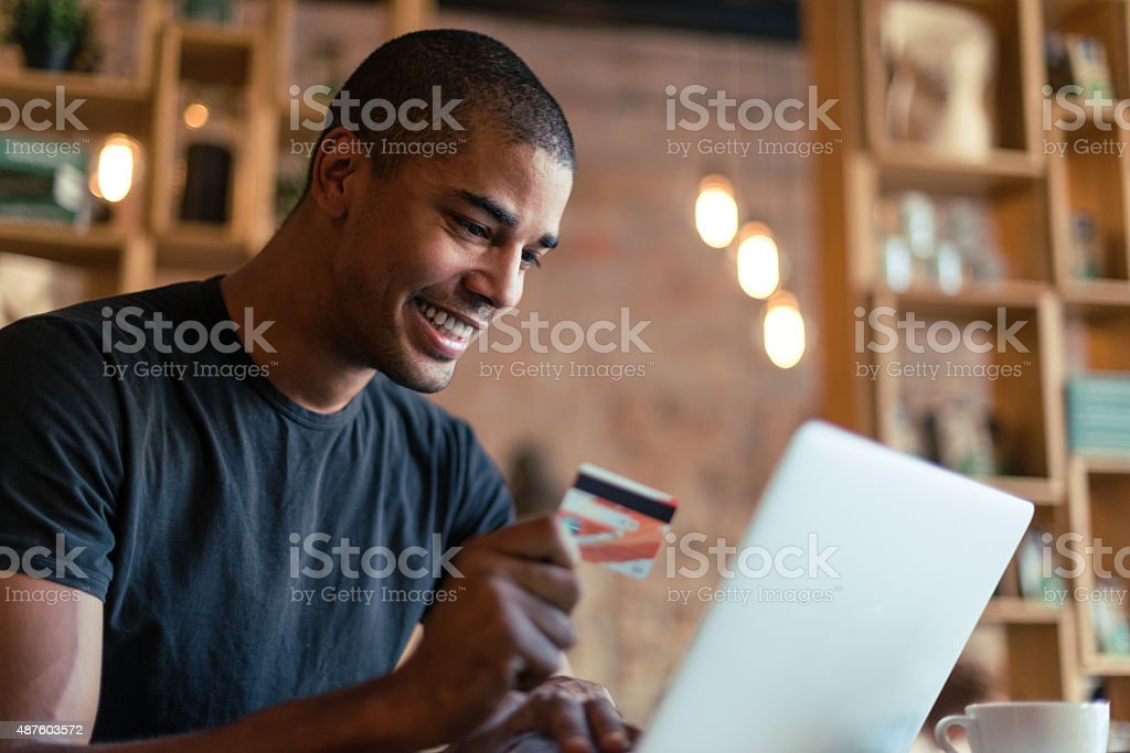 Purchasing online stock photo