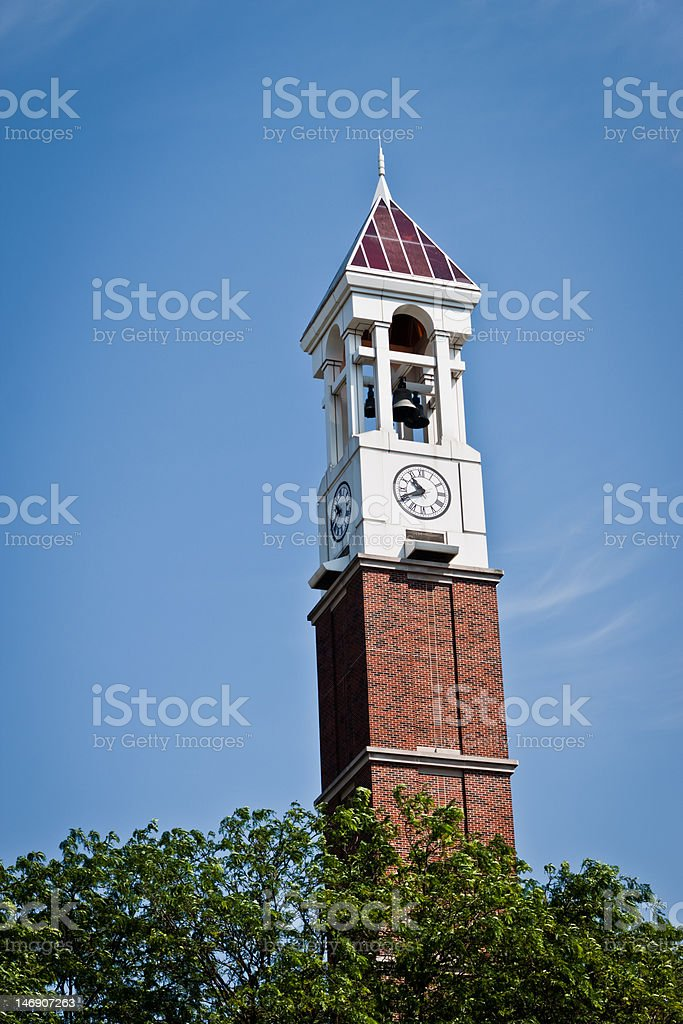 Purdue Bell Tower, Lafayette Indiana stock photo