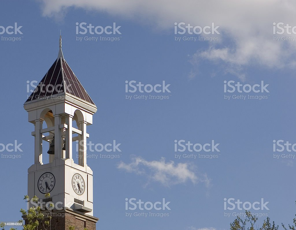 Purdue Bell Tower stock photo