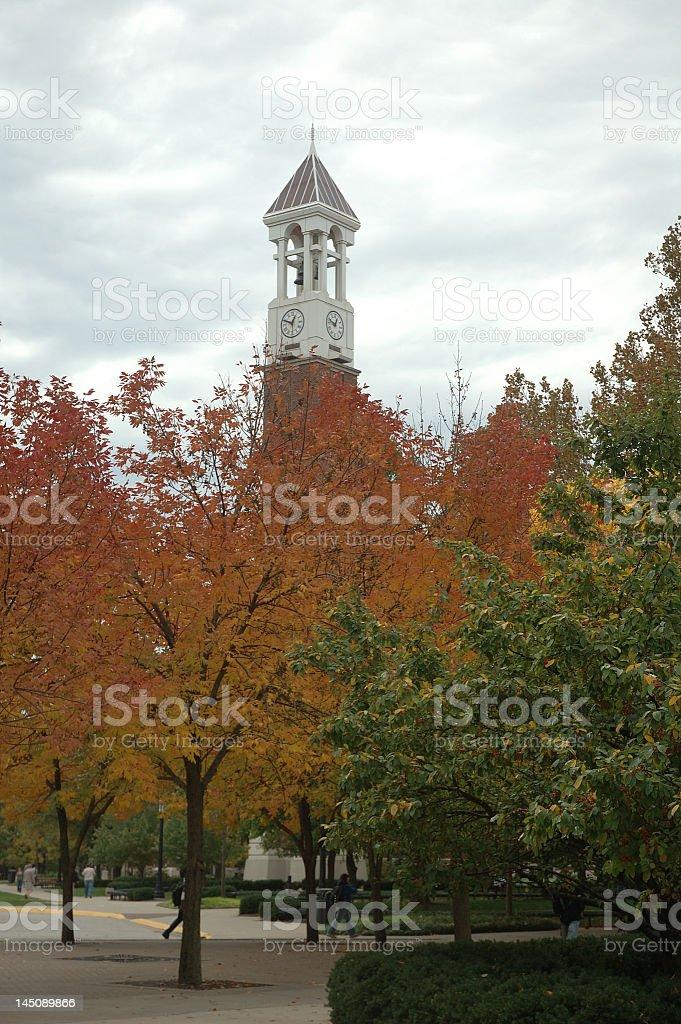 Purdue University Clock Tower stock photo