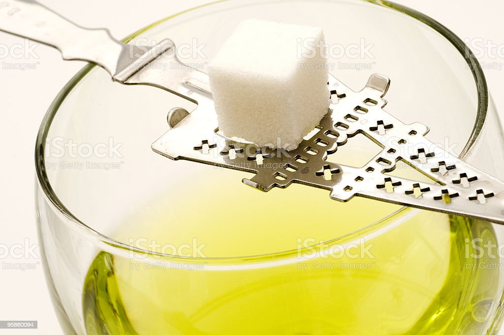Pure Absinthe stock photo