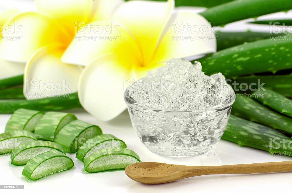 Pure Aloe Vera gel. stock photo