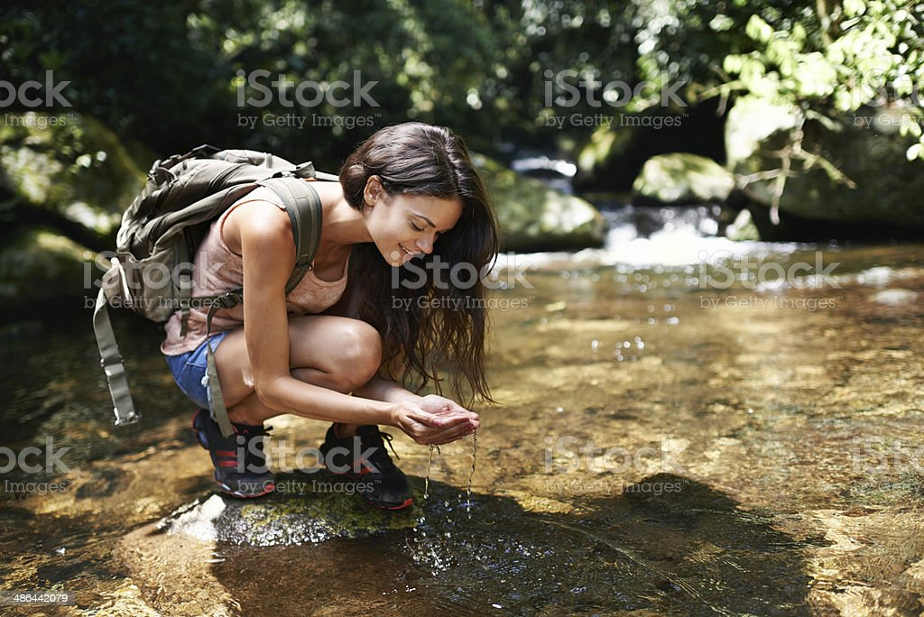 Pure and refreshing stock photo