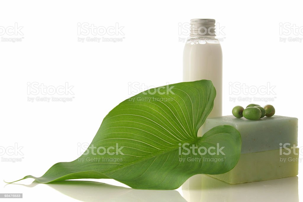 Pure bathroom leaf stock photo