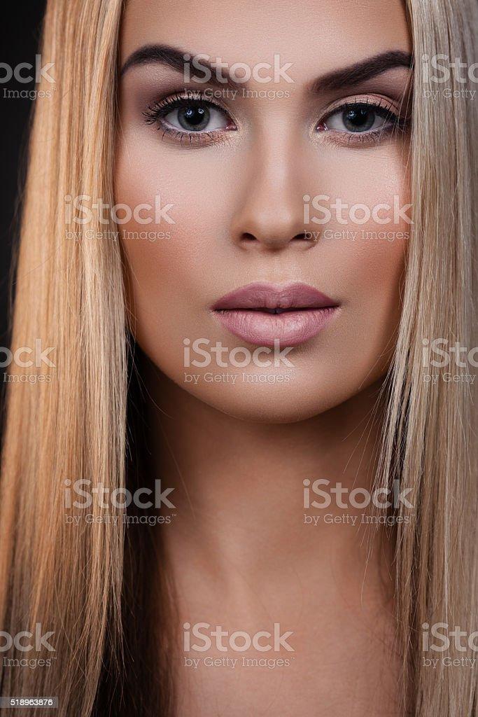 Pure beauty portrait stock photo