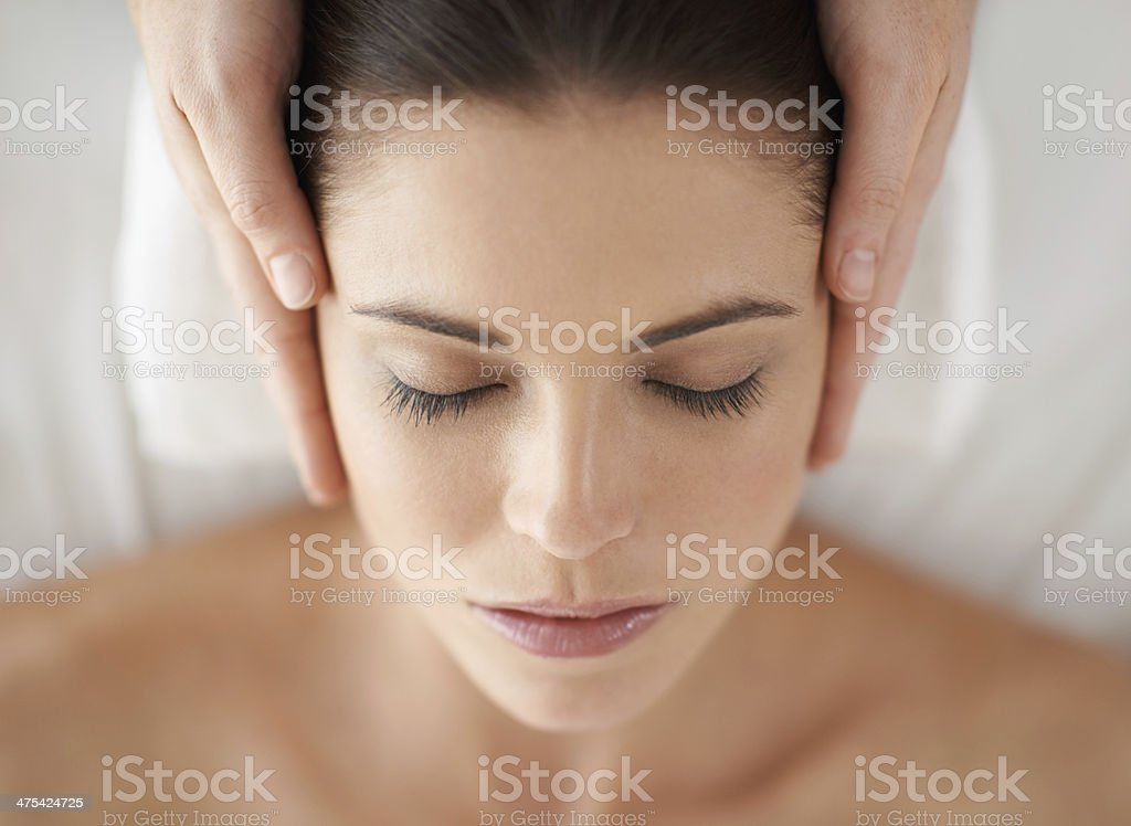 Pure bliss stock photo