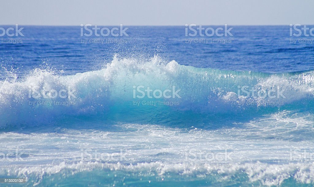 Pure blue sea. stock photo