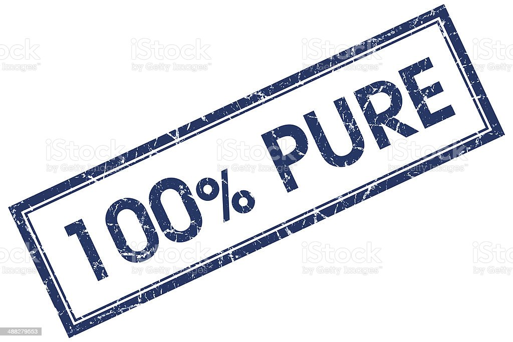 100% pure blue square stamp royalty-free stock photo
